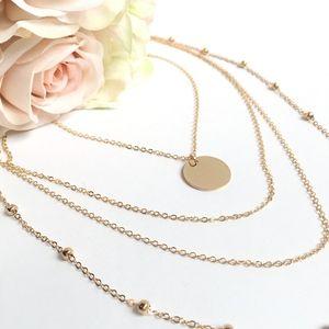 Jewelry - Gold Multilayer Choker Minimalist Necklace